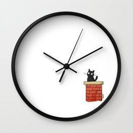 Curious Cat Wall Clock