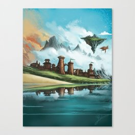 A City of Iron Canvas Print