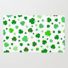 Green Shamrock Pattern Rug