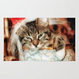 Christmas Kitten Rug