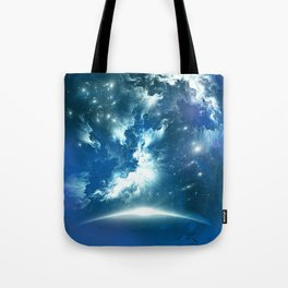 Space Fight Tote Bag
