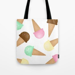 Ice Cream Pattern Tote Bag