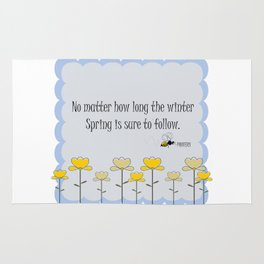 Spring saying quote Rug