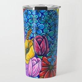 Floral Exuberance Travel Mug