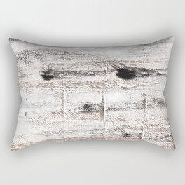 Ghost white abstract watercolor Rectangular Pillow