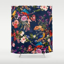 FLORAL AND BIRDS XII Shower Curtain