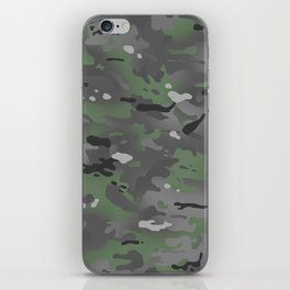 Camouflage: Arctic Green and Grey iPhone Skin
