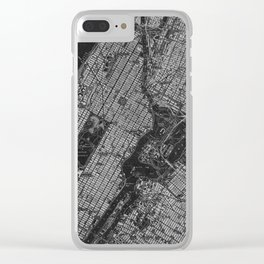 Central Park New York 1947 vintage old map for office decoration Clear iPhone Case