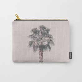 Tropical Palm Tree In Pastel Pink Light Carry-All Pouch
