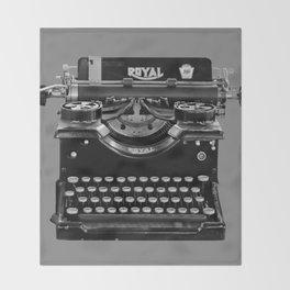 Vintage Typewriter Throw Blanket