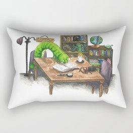 Little Worlds: The Library Rectangular Pillow