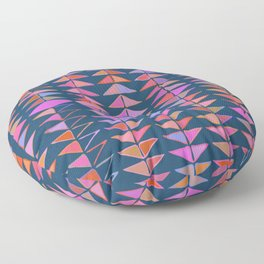 Colorful Triangles Floor Pillow