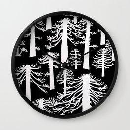 Araucarias Blancas Wall Clock