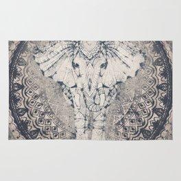 Indian Elephant Mandala Rug