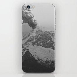 Volcano black and white iPhone Skin