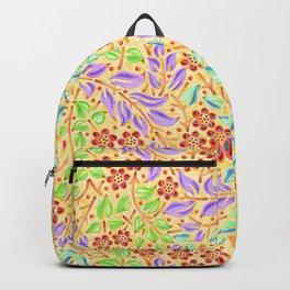 Sunshine Filigree Floral Backpack