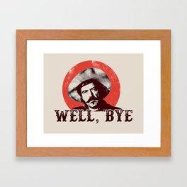 Curly Bill in Black Stencil  Framed Art Print