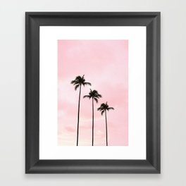 Palm Tree Photography Peach | Blush Pink | Millennial Pink | Miami Framed Art Print