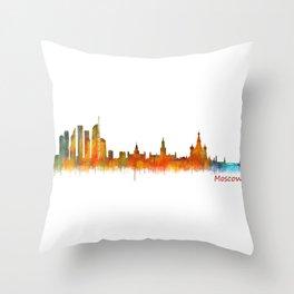 Moscow City Skyline art HQ v2 Throw Pillow