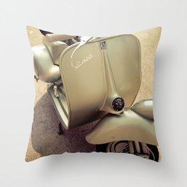 Original Italian vintage vespa Throw Pillow
