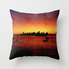 Miami Grunge Throw Pillow