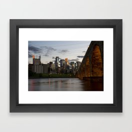 Minneapolis Skyline - Stone Arch View Framed Art Print