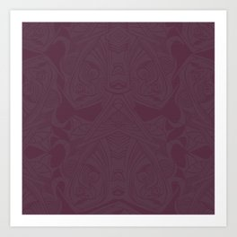 Abstract I: Purple Art Print