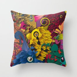 Cuckoos Throw Pillow