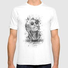Wiz Khalifa splatter painting T-shirt