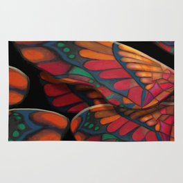 """A thousand colors of butterfly wings"" Rug"