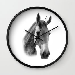 Dapple Horse Wall Clock