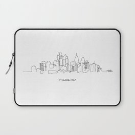 Philadelphia Skyline Drawing Laptop Sleeve