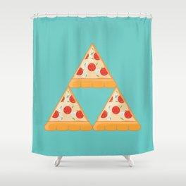 Tri-Pizza Shower Curtain