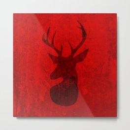 Red Deer Stag Design Metal Print