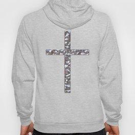 Chrome Crucifix Solid Hoody