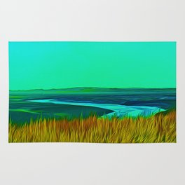 River Alt (Digital Art) Rug