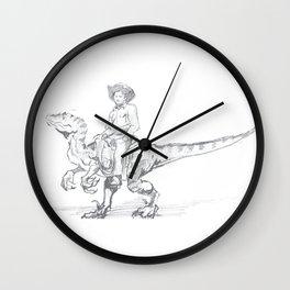 Raptor Roundup Wall Clock