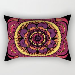 Colored Mandala Rectangular Pillow