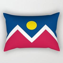 Denver City Flag - Authentic High Quality Rectangular Pillow