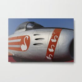 F-86E Sabre Flying Swans Metal Print