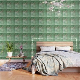 Hand painted forest green brown watercolor camo pattern Wallpaper