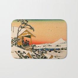 Snow at Koishikawa - Vintage Japanese Art Bath Mat