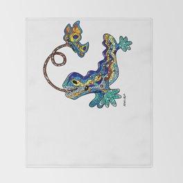 El Drac, Antoni Gaudi, Park Guell, Barcelona Throw Blanket