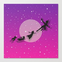 Peter Pan Magical Night Canvas Print