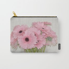 Pink Gerbera Flowers Carry-All Pouch