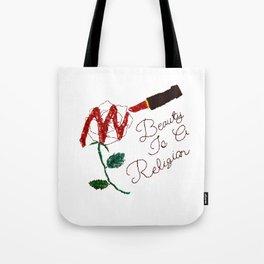BeautyIsAReligion `Rose Lippy` Tote Bag