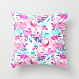 Bold Floral Throw Pillow