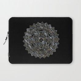 Aztec Mexican Silver Mandala Laptop Sleeve