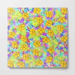 Hawaiian Yellow Flowers Metal Print