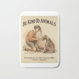 Be Kind To Animals 3 Bath Mat